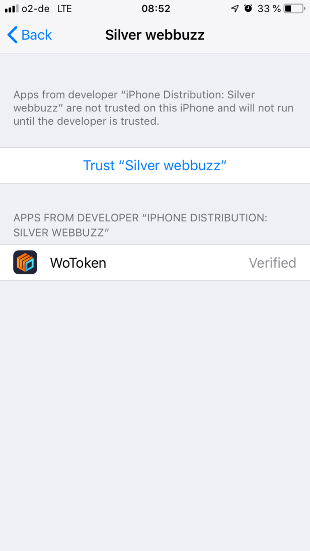 Wo Token WoToken Silver Webbuzz How to intall 001