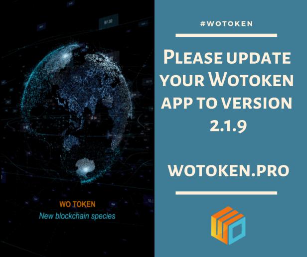 Wotoken App Update